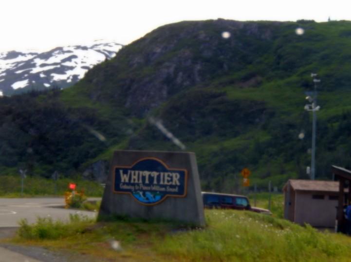 entering whittier
